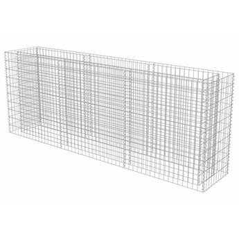 vidaXL Podwyższona donica gabionowa, galwanizowana stal, 270x50x100 cm