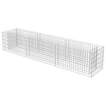 vidaXL Podwyższona donica gabionowa, galwanizowana stal, 270x50x50 cm