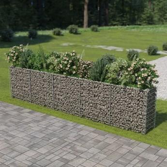 vidaXL Podwyższona donica gabionowa, galwanizowana stal, 450x50x100 cm