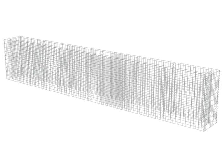 vidaXL Podwyższona donica gabionowa, galwanizowana stal, 540x50x100 cm Donica ogrodowa Kolor Zielony Kamień Metal Kolor Czarny