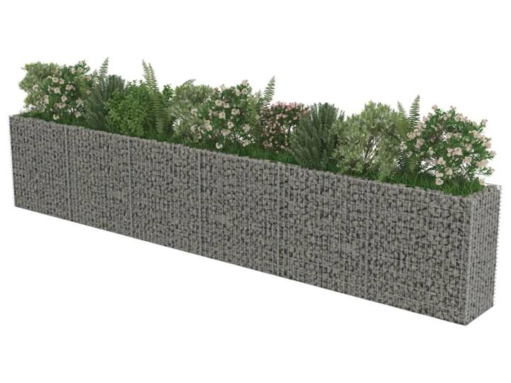 vidaXL Podwyższona donica gabionowa, galwanizowana stal, 540x50x100 cm Metal Donica ogrodowa Kamień Kategoria Donice ogrodowe