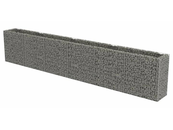 vidaXL Podwyższona donica gabionowa, galwanizowana stal, 540x50x100 cm Kategoria Donice ogrodowe Metal Donica ogrodowa Kamień Kolor Czarny