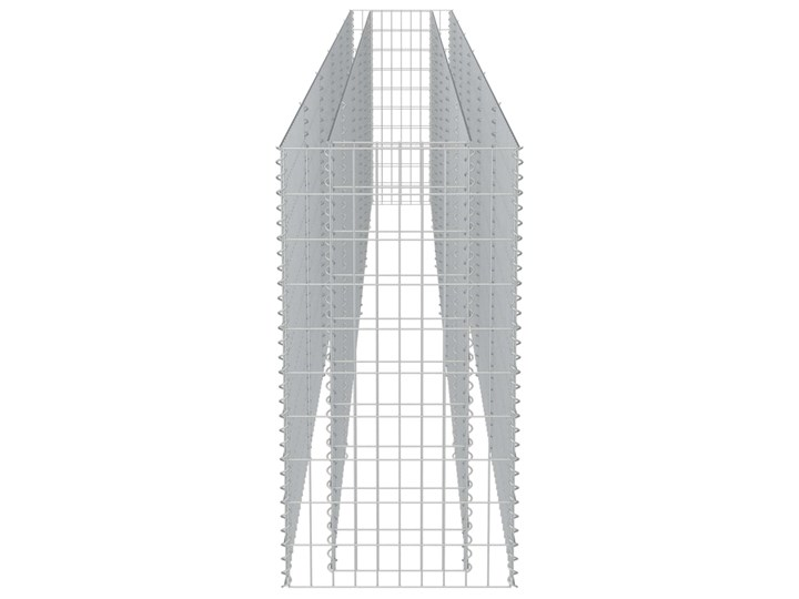 vidaXL Podwyższona donica gabionowa, galwanizowana stal, 540x50x100 cm Kamień Donica ogrodowa Metal Kolor Zielony