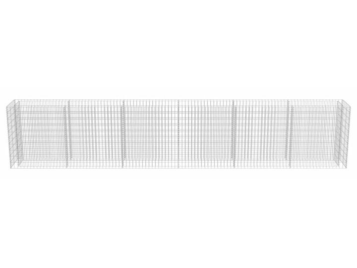 vidaXL Podwyższona donica gabionowa, galwanizowana stal, 540x50x100 cm Donica ogrodowa Metal Kamień Kolor Czarny