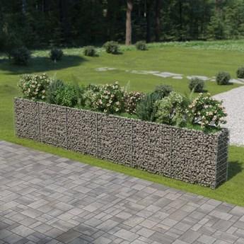 vidaXL Podwyższona donica gabionowa, galwanizowana stal, 540x50x100 cm
