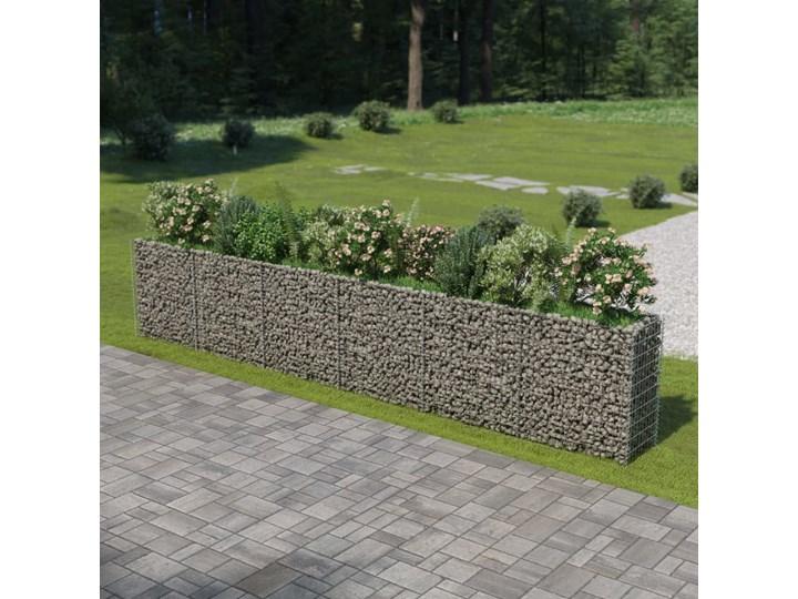 vidaXL Podwyższona donica gabionowa, galwanizowana stal, 540x50x100 cm Donica ogrodowa Kategoria Donice ogrodowe Kamień Metal Kolor Czarny