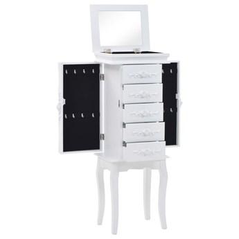 vidaXL Stojąca szafka na biżuterię, biała