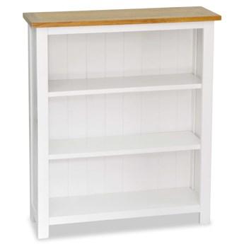 vidaXL Regał na książki z 3 półkami, 72x22,5x82 cm, lite drewno dębowe