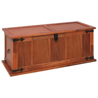 vidaXL Skrzynia, 90 x 45 x 40 cm, lite drewno akacjowe