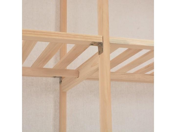 vidaXL Szafa, biała, 200x40x170 cm, materiałowa Głębokość 40 cm Drewno Tkanina Kolor Beżowy