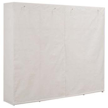 vidaXL Szafa, biała, 200x40x170 cm, materiałowa