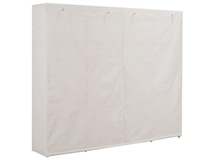 vidaXL Szafa, biała, 200x40x170 cm, materiałowa Tkanina Głębokość 40 cm Drewno Lustro