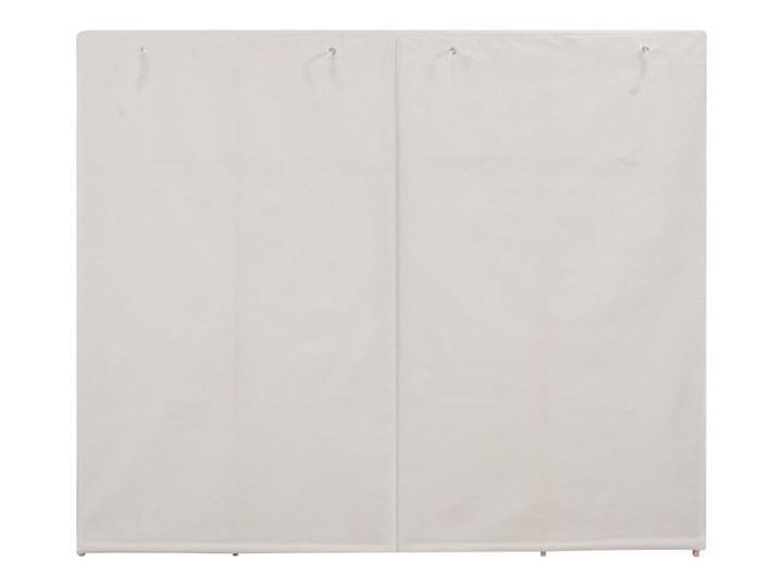 vidaXL Szafa, biała, 200x40x170 cm, materiałowa Kolor Beżowy Tkanina Głębokość 40 cm Drewno Rodzaj drzwi Zwijane