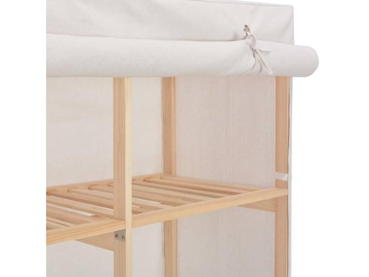 vidaXL Szafa, biała, 200x40x170 cm, materiałowa Tkanina Głębokość 40 cm Drewno Kolor Biały