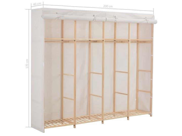 vidaXL Szafa, biała, 200x40x170 cm, materiałowa Drewno Tkanina Kategoria Szafy do garderoby Głębokość 40 cm Pomieszczenie Pokój nastolatka