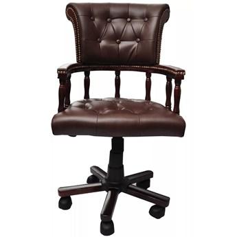 vidaXL Obrotowe krzesło biurowe, brązowe