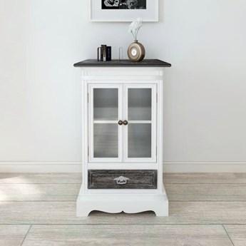 vidaXL Szafka z 2 drzwiami i 1 szufladą, drewniana, biała