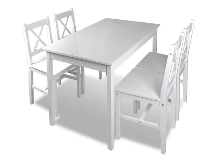 vidaXL 5-częściowy zestaw mebli do jadalni, biały Liczba krzeseł 4 krzesła
