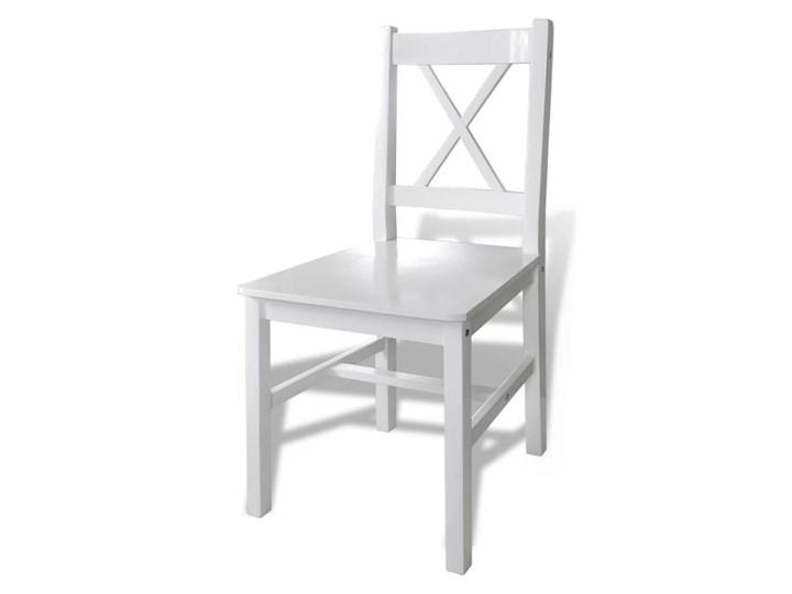 vidaXL 5-częściowy zestaw mebli do jadalni, biały Liczba krzeseł 4 krzesła Pomieszczenie Jadalnia