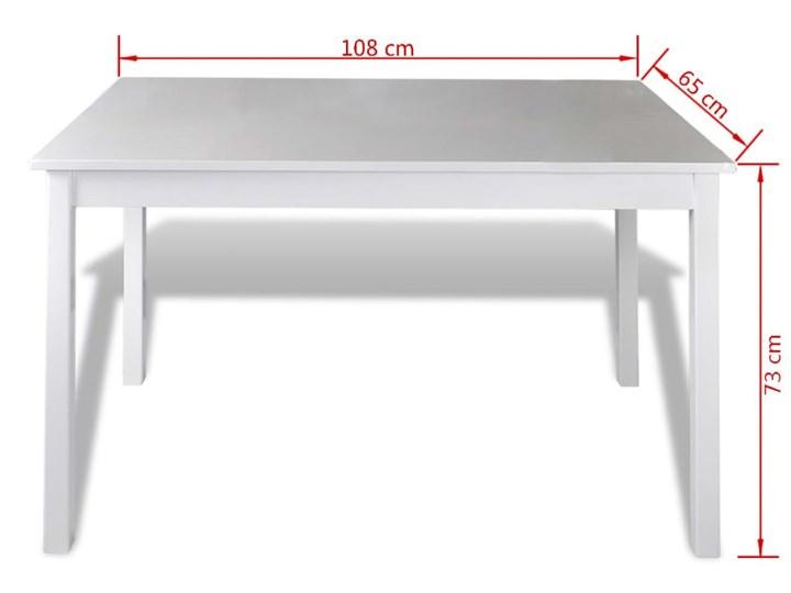 vidaXL 5-częściowy zestaw mebli do jadalni, biały Pomieszczenie Jadalnia Liczba krzeseł 4 krzesła