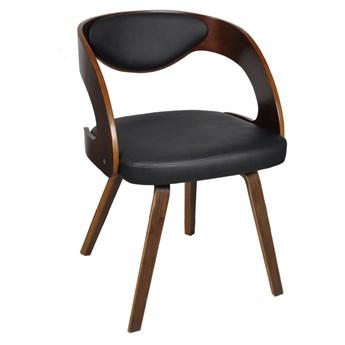 vidaXL Krzesła stołowe, 6 szt., brązowe, sztuczna skóra
