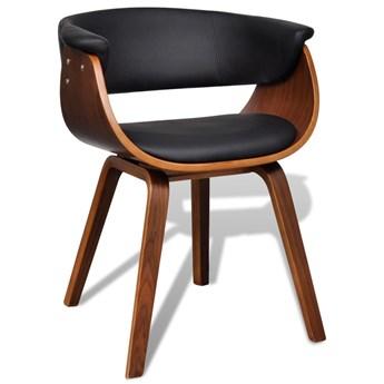 vidaXL Krzesło do jadalni, gięte drewno i sztuczna skóra