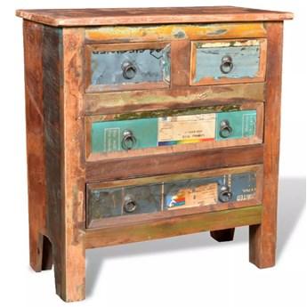 vidaXL Komoda z drewna odzyskanego z 4 szufladami