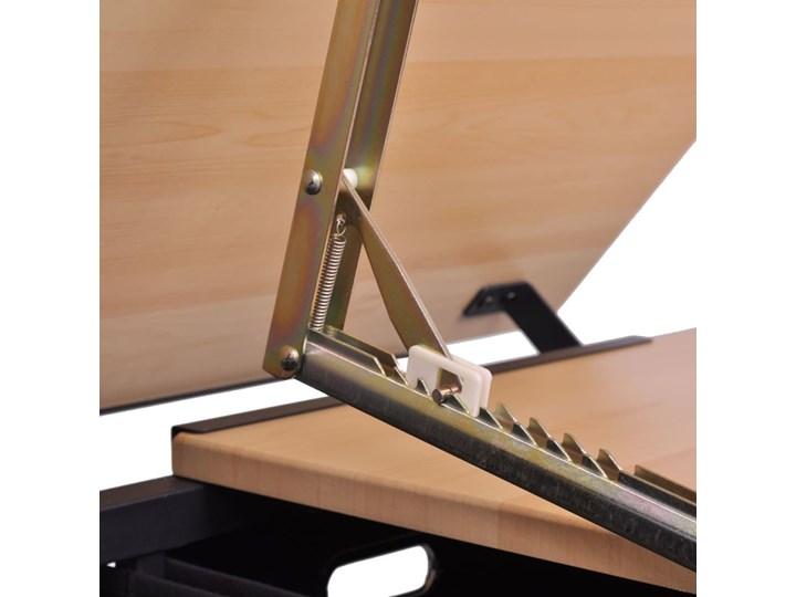 vidaXL Biurko kreślarskie z szufladami i krzesełkiem Biurko komputerowe Biurko regulowane Płyta MDF Kolor Czarny