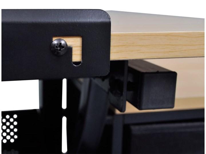 vidaXL Biurko kreślarskie z szufladami i taboretem Płyta MDF Biurko regulowane Kolor Beżowy