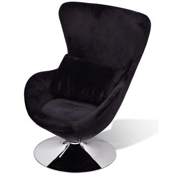 vidaXL Fotel o owalnym kształcie, czarny