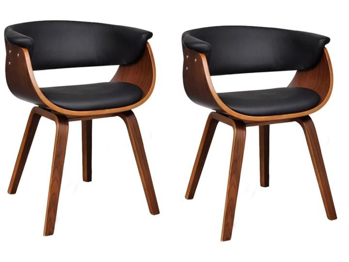 vidaXL Krzesła do jadalni, 2 szt., gięte drewno i sztuczna skóra Wysokość 72 cm Głębokość 38 cm Szerokość 43 cm Skóra ekologiczna Tworzywo sztuczne Kategoria Krzesła kuchenne