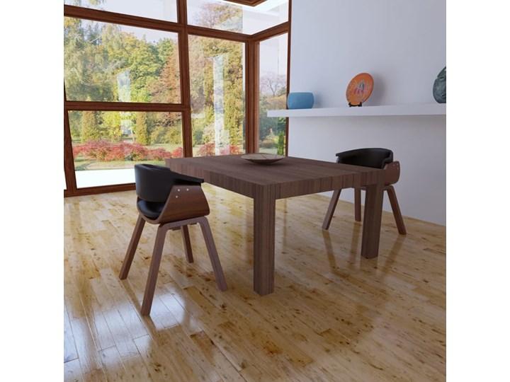 vidaXL Krzesła do jadalni, 2 szt., gięte drewno i sztuczna skóra Szerokość 43 cm Pomieszczenie Jadalnia Skóra ekologiczna Tworzywo sztuczne Głębokość 38 cm Wysokość 72 cm Kolor Brązowy