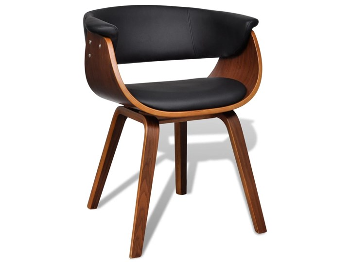 vidaXL Krzesła do jadalni, 2 szt., gięte drewno i sztuczna skóra Kategoria Krzesła kuchenne Tworzywo sztuczne Wysokość 72 cm Szerokość 43 cm Głębokość 38 cm Skóra ekologiczna Pomieszczenie Jadalnia