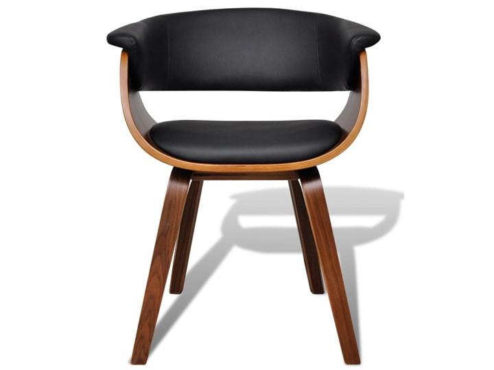 vidaXL Krzesła do jadalni, 2 szt., gięte drewno i sztuczna skóra Skóra ekologiczna Głębokość 38 cm Wysokość 72 cm Szerokość 43 cm Tworzywo sztuczne Kolor Brązowy