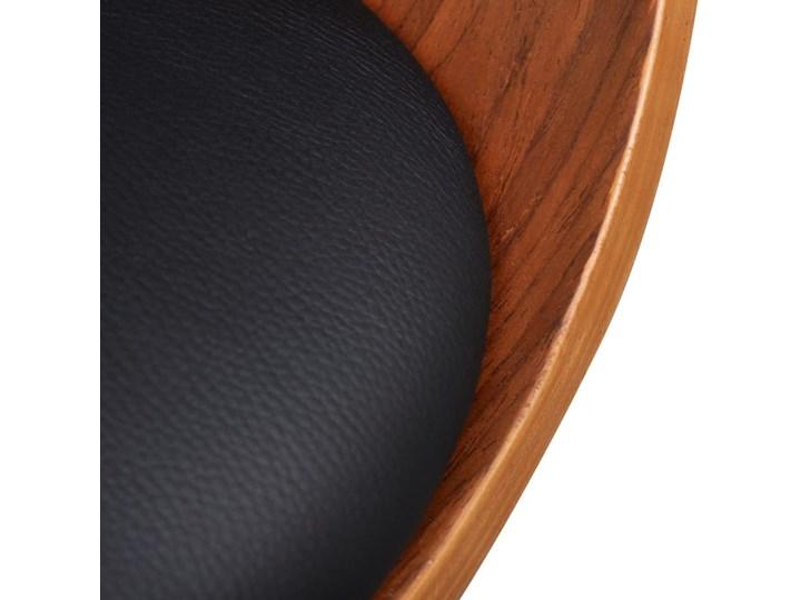 vidaXL Krzesła do jadalni, 2 szt., gięte drewno i sztuczna skóra Szerokość 43 cm Kolor Brązowy Skóra ekologiczna Głębokość 38 cm Tworzywo sztuczne Wysokość 72 cm Pomieszczenie Jadalnia