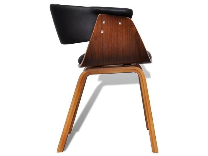 vidaXL Krzesła do jadalni, 2 szt., gięte drewno i sztuczna skóra Wysokość 72 cm Tworzywo sztuczne Głębokość 38 cm Szerokość 43 cm Skóra ekologiczna Kategoria Krzesła kuchenne
