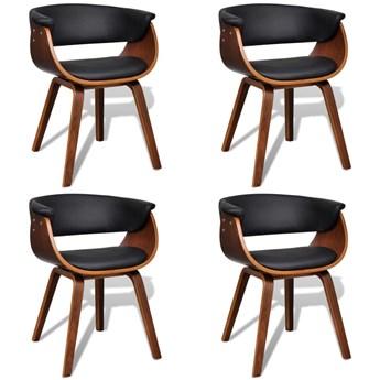 vidaXL Krzesła do jadalni, 4 szt., gięte drewno i sztuczna skóra