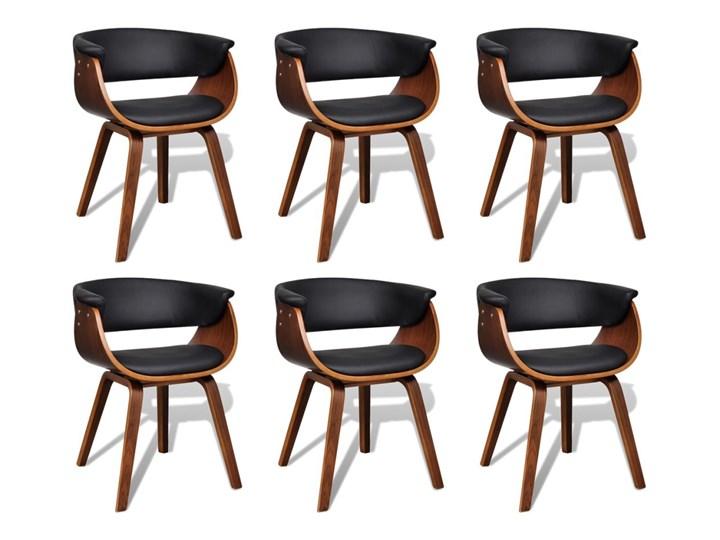 vidaXL Krzesła do jadalni, 6 szt., gięte drewno i sztuczna skóra Wysokość 72 cm Tworzywo sztuczne Głębokość 38 cm Szerokość 43 cm Skóra ekologiczna Pomieszczenie Jadalnia Kolor Brązowy