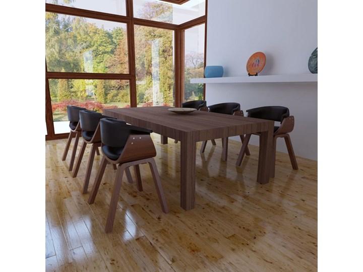 vidaXL Krzesła do jadalni, 6 szt., gięte drewno i sztuczna skóra Szerokość 43 cm Skóra ekologiczna Tworzywo sztuczne Wysokość 72 cm Głębokość 38 cm Pomieszczenie Jadalnia