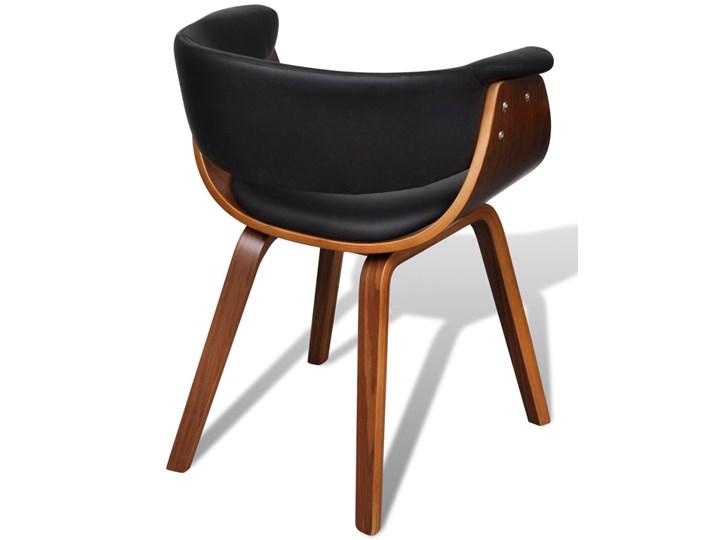 vidaXL Krzesła do jadalni, 6 szt., gięte drewno i sztuczna skóra Skóra ekologiczna Szerokość 43 cm Kategoria Krzesła kuchenne Głębokość 38 cm Tworzywo sztuczne Wysokość 72 cm Kolor Brązowy