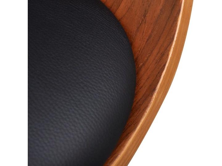 vidaXL Krzesła do jadalni, 6 szt., gięte drewno i sztuczna skóra Kategoria Krzesła kuchenne Skóra ekologiczna Tworzywo sztuczne Głębokość 38 cm Wysokość 72 cm Szerokość 43 cm Kolor Brązowy
