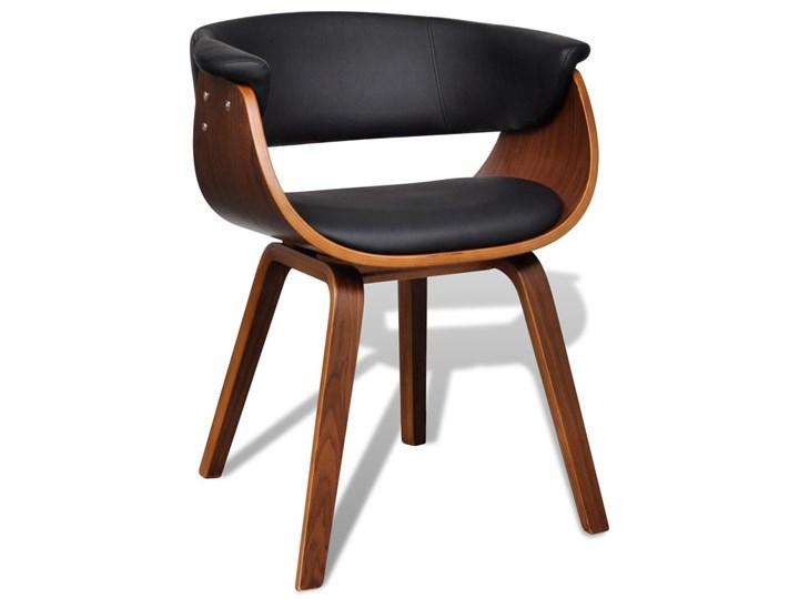 vidaXL Krzesła do jadalni, 6 szt., gięte drewno i sztuczna skóra Kategoria Krzesła kuchenne Szerokość 43 cm Tworzywo sztuczne Skóra ekologiczna Głębokość 38 cm Wysokość 72 cm Kolor Brązowy