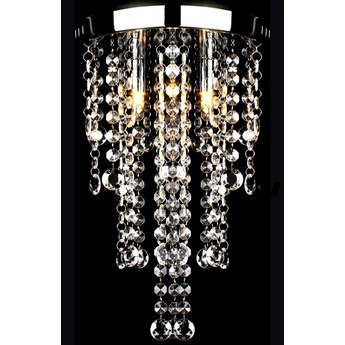 vidaXL Lampa sufitowa z kryształami, biała, metalowa