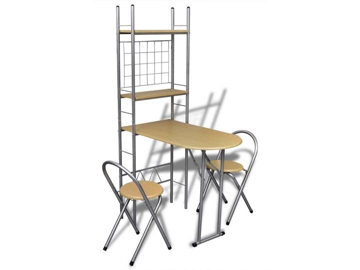 vidaXL Składany bar śniadaniowy z 2 krzesłami