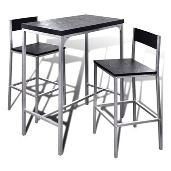 vidaXL Wysoki stolik kuchenny + krzesła