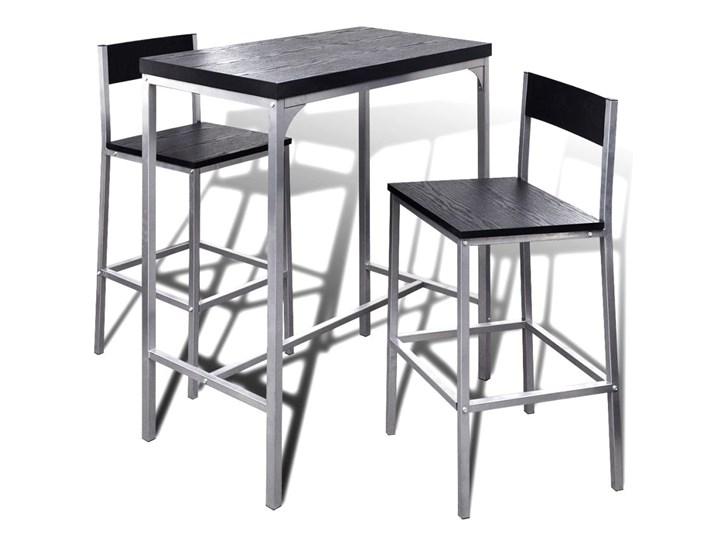 vidaXL Wysoki stolik kuchenny + krzesła Liczba krzeseł 2 krzesła Kolor Szary