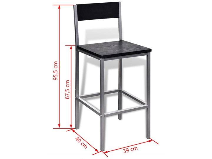 vidaXL Wysoki stolik kuchenny + krzesła Kategoria Stoły z krzesłami