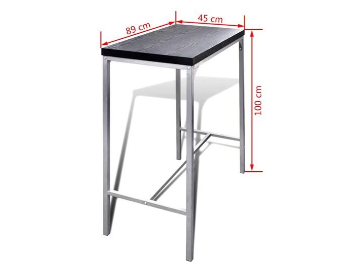 vidaXL Wysoki stolik kuchenny + krzesła Kategoria Stoły z krzesłami Kolor Szary