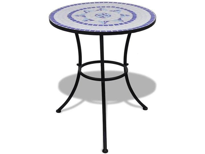 vidaXL 3-cz. zestaw mebli bistro z mozaiką niebiesko-białą Stoły z krzesłami Styl Industrialny