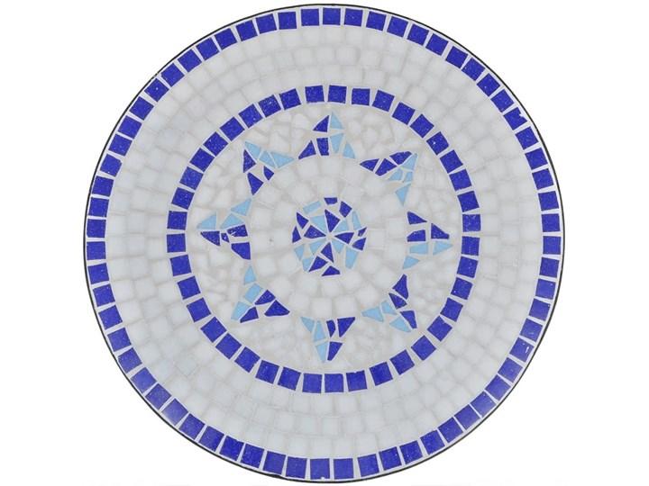 vidaXL 3-cz. zestaw mebli bistro z mozaiką niebiesko-białą Stoły z krzesłami Kolor Biały
